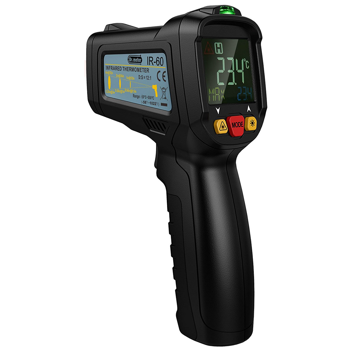 10 Best Infrared Thermometer Reviews On Market 2018 Hot Water System Further Fluke Thermal Imager Wiring Diagram For Drmeter Ir 60 Non Contact Laser